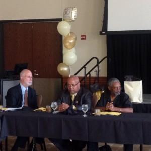 CAGI Board Jack Brummett, Pastor Michael K. Jones and Kamau Jywanza