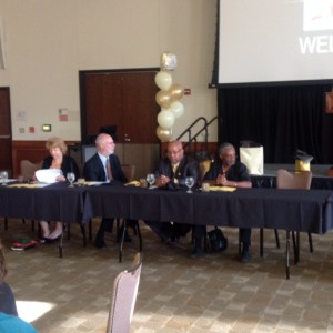 CAGI Board seated Jill Eder, Pastor Michael K. Jones and Kamau Jywanza