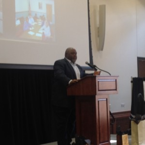 Rep. Greg Porter giving Testimony